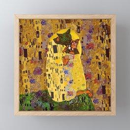 Kiss Klimt Cats Framed Mini Art Print