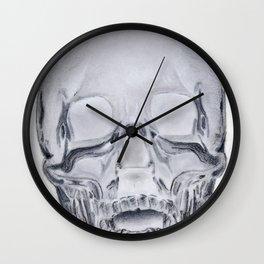 Glass Skull Rendering Wall Clock