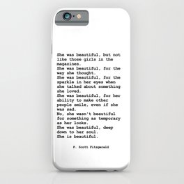 She was beautiful by F. Scott Fitzgerald #minimalism #poem iPhone Case