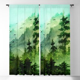 Mountain Morning Blackout Curtain
