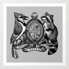 Regular Crest Art Print
