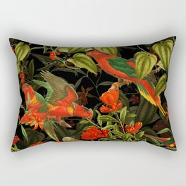 Vintage & Shabby Chic - Midnight Tropical Garden I Rectangular Pillow