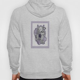 Pretty in Purple Zentangle Design Illustration Hoody