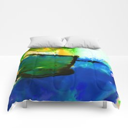 Abstract Bliss 4I by Kathy Morton Stanion Comforters