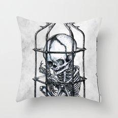 Fetus Cage Throw Pillow