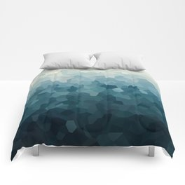 Ice Blue Mountains Moon Love Comforters