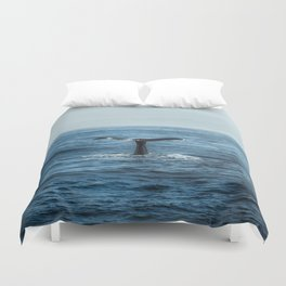 Whale tail - Hamptons Style Duvet Cover