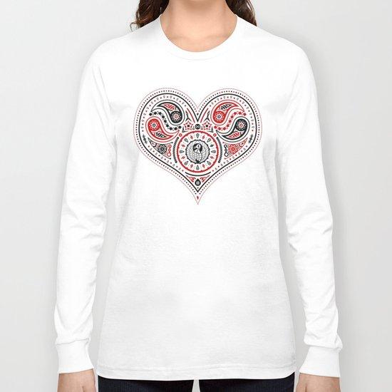 83 Drops - Hearts (Red & Black) Long Sleeve T-shirt