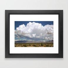 desert drive by Framed Art Print