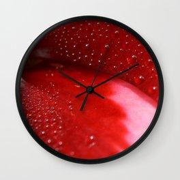 Dew on Petal fine art photography Wall Clock