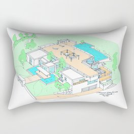 house by tereza del pilar Rectangular Pillow