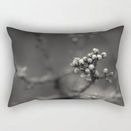 spring is upcoming - black'n white Rectangular Pillow