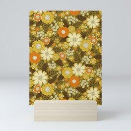 1970s Retro/Vintage Floral Pattern Mini Art Print