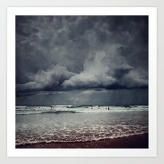 elemental - surf and clouds Art Print