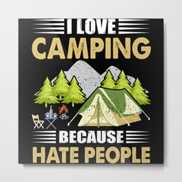 Call Of Freedom Nature Camping Metal Print