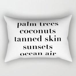 beachy things Rectangular Pillow