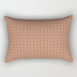 Ligonier Tan SW 7717 V Shape Horizontal Lines on Cavern Clay SW 7701 Rectangular Pillow