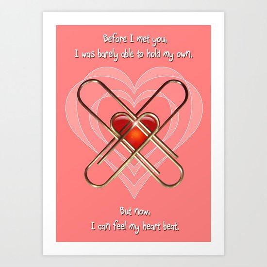 Clip Heart Valentine Art Print