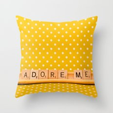 Adore Me Throw Pillow