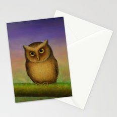 Mountain Scops Owl Stationery Cards