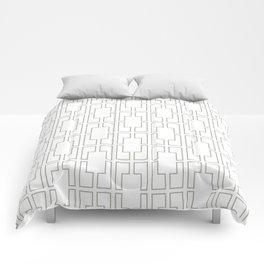 Simply Mid-Century Retro Gray on White Comforters