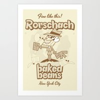 rorschach Art Prints featuring Rorschach by Giovanni Costa