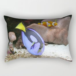Coral Reef and Fish Rectangular Pillow
