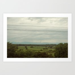 Trainride Art Print