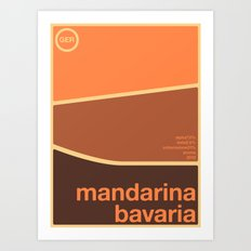 mandarina bavaria single hop Art Print