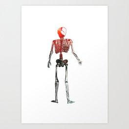 Skeleton in your closet Art Print