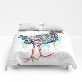 Inked Pukeko Comforters