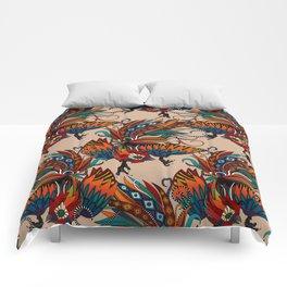 rooster ink beige Comforters