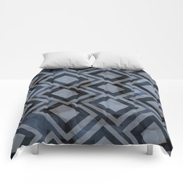 Black and White Squares Pattern 08 Comforters