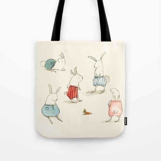 If Rabbits Wore Pants Tote Bag