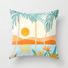 Bali Sunset Throw Pillow
