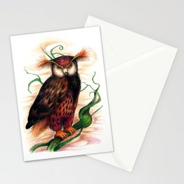 Sunset owl Stationery Cards