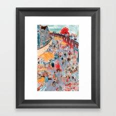 Columbia Road Flower Market Framed Art Print