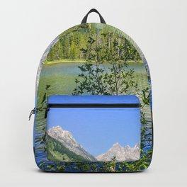 Grand Teton National Park Jenny Lake Mountains Landscape Print Backpack