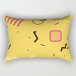 New York 1989 - Yellow Memphis Throwback Retro 1990s 80s Trendy Hipster Pattern Eighties Rectangular Pillow
