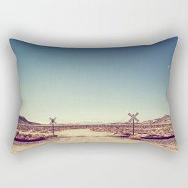 Railroad Crossing California desert Rectangular Pillow