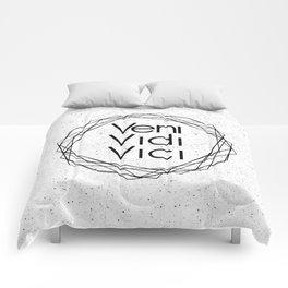 I Came I Saw I Conquered Veni Vidi Vici Comforters