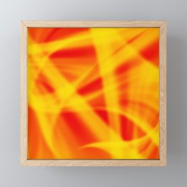 A flowing pattern of smooth red lines on a brocade veil with transparent luminous transitions. Framed Mini Art Print