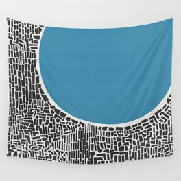 Abstract Blue Lake Wall Tapestry