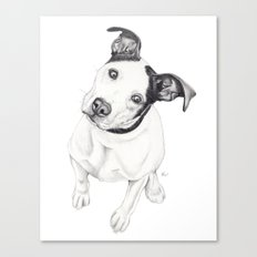 Rosco (Pit Mix) Canvas Print