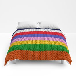 Knitted colorful stripes  Comforters
