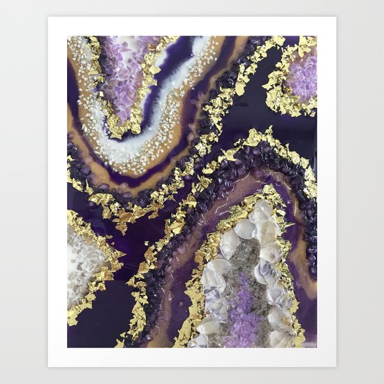 Geode Resin Painting by paintingsbyagnes