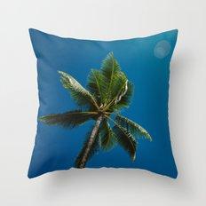 palm tree ver.summer Throw Pillow