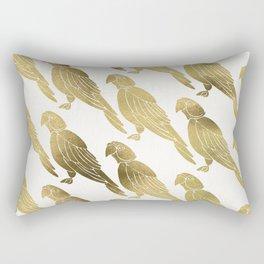 Perched Parrot – Gold Palette Rectangular Pillow