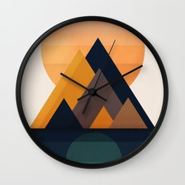 Twin Sun Wall Clock
