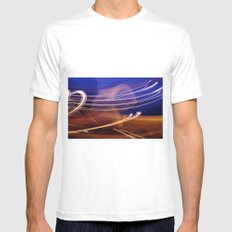 Vapour Trails White Mens Fitted Tee MEDIUM